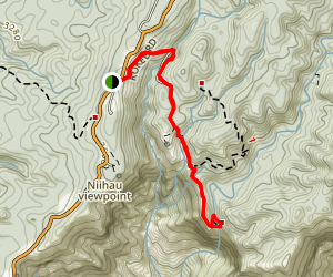 Canyon Trail to Waipoo Falls Map