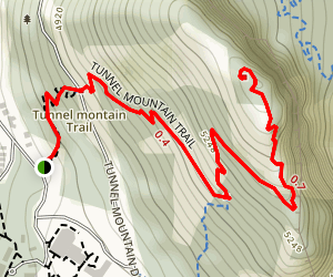 Tunnel Mountain Trail Map