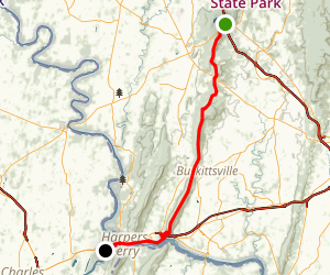 Appalachian Trail: South Mountain State Park to Harper's Ferry Map