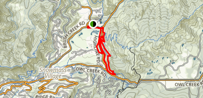 Snowmass Green Loop: Lowline and Highline Trails Map