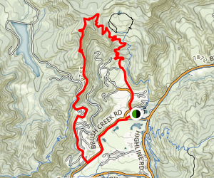 Snowmass Red Loop: Brush Creek and Rim Trail North Map