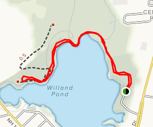 Willand Pond Trail Map