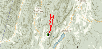 Mount Greylock South Flank and Rounds Rock Map