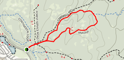 Anasazi Trail Map