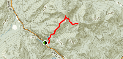 Ridge Trail to Giant Mountain and Rocky Peak Ridge Map