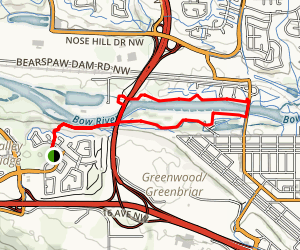 Bow River Pathway Loop Map