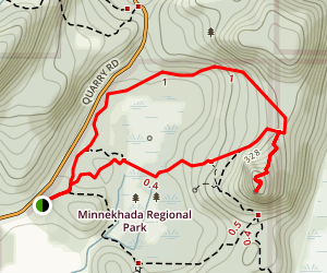 Quarry Trail to Mid-Marsh Trail Loop Map