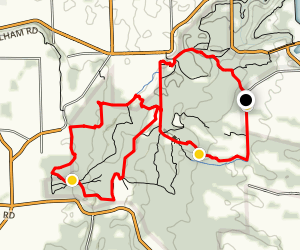 Black Walnut Trail and Swayzee Falls Loop Map