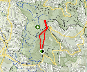 1000 Steps, 1 Tree Hill, and Mount Dandenong Map