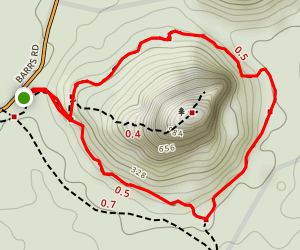 Around Mount Tibrogargan via Trachyte Circuit Map