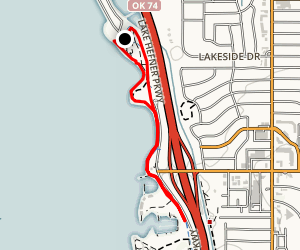 Lake Hefner Short Walk Map