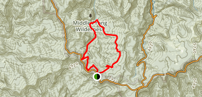 Haywood Gap and Buckeye Gap Loop Map