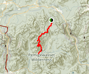 Zealand Trail to Bondcliff Trail Map