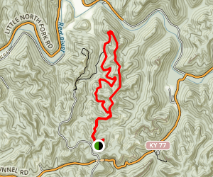 Courthouse Rock Trail to Auxier Branch Trail Loop Map