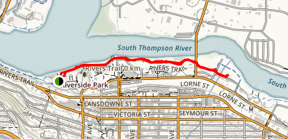 Rivers Trail from Riverside Park Map