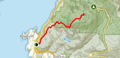 Sea-to-Sky Hwy to Black Mountain's Peak Map