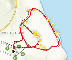 West Thumb Geyser Basin Trail Map