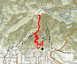 La Canada Teepee via Crosstown Trail Map