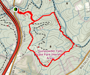 Panther Trail to Sandy Lane Trail Map