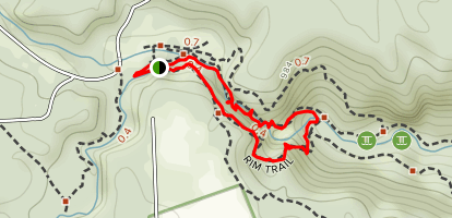 Enfield Creek Gorge Trail and Rim Trail Short Loop Map