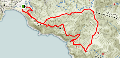 Coastal Trail and Coastal Fire Road Loop Map