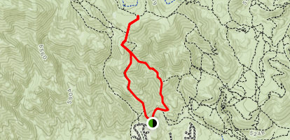 Peavine Vista Loop Trail Map