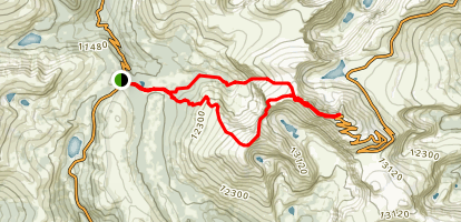 Mount Bierstadt Loop Trail Map