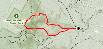 Holt Trail and Manning Trail Loop to Mount Cardigan Map