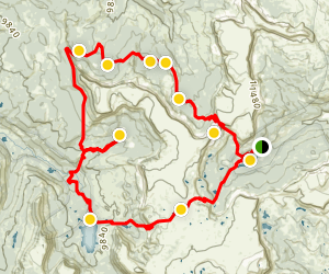 Devil's Causeway to Skinny Fish Lake and Trappers Lake Loop Map