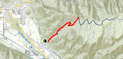 Arbaney Kittel Day Hike Map