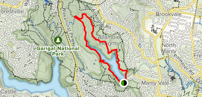 Manly Dam Loop Map
