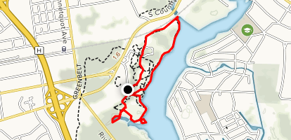 Bayard Cutting Arboretum Loop Map