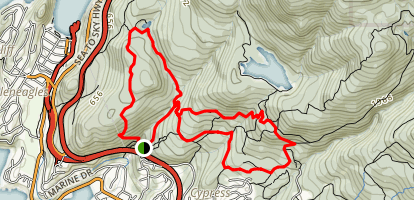 Whyte Lake Loop Map