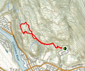 Miral Heights and Bluffs Trail Map