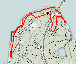 Stanley Park Seawall Loop Map