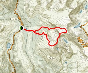 The Sawtooth via Mount Bierstandt Trail Loop Map