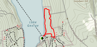 White Blaze Loop Trail Map