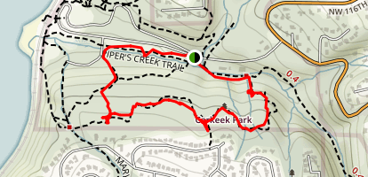 Brick Road and South Ridge Trail Map