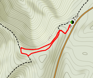 Blackrock Summit Via Trayfoot Mountain and Appalachian Trail Map