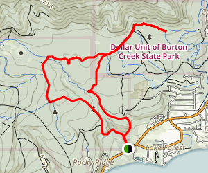 Burton Creek Loop Map
