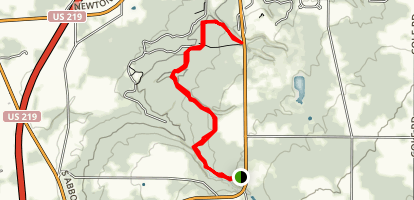 Eternal Flame Falls to Chestnut Ridge Trail Map