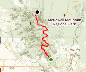 McDowell Mountain Rim to Rim Map