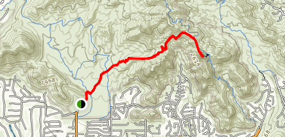Lost Dog Wash Trail to Sunrise Peak via Sunrise Trail Map