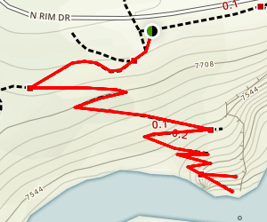 Brink of the Lower Falls Trail Map