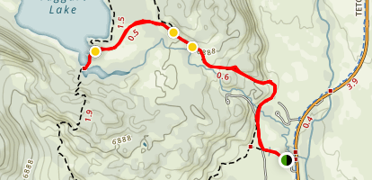 Taggart Lake Map
