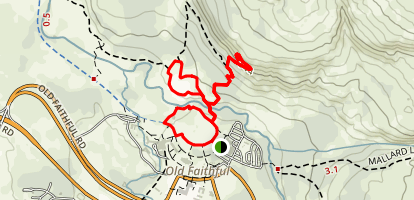 Geyser Hill Loop Trail and Observation Point Map