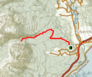 Mesa-Cortina Trail to South Willow Creek Falls Map