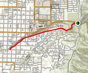 Canyon Road Jogging Trail Map