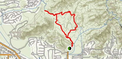 Lost Dog Wash Trail to Ringtail Trail Loop Map