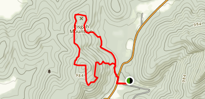 Cathedral Caverns Yellow Trail Loop Map
